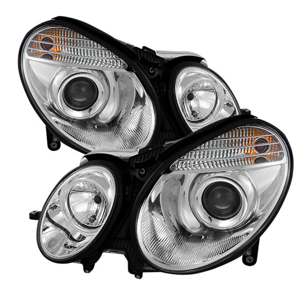 Spyder PRO-YD-MBW21103-C:  Mercedes Benz W211 E-Class 03-06 ( Non HID ) Projector Headlights - Chrome