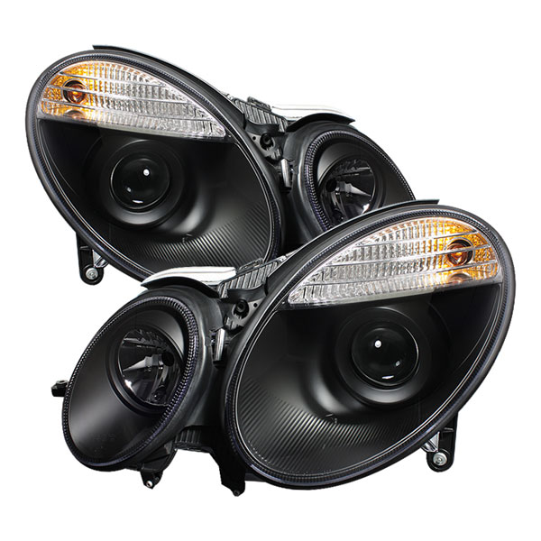 Spyder PRO-YD-MBW21103-HID-BK:  Mercedes Benz W211 E-Class 03-06 ( HID Type ) Projector Headlights - Black
