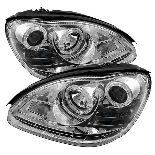 Spyder 5029959:  Mercedes Benz W220 S-Class 03-06 ( HID TYPE ) DRL LED Projector Headlights - Chrome  - (PRO-YD-MBW220-HID-DRL-C)