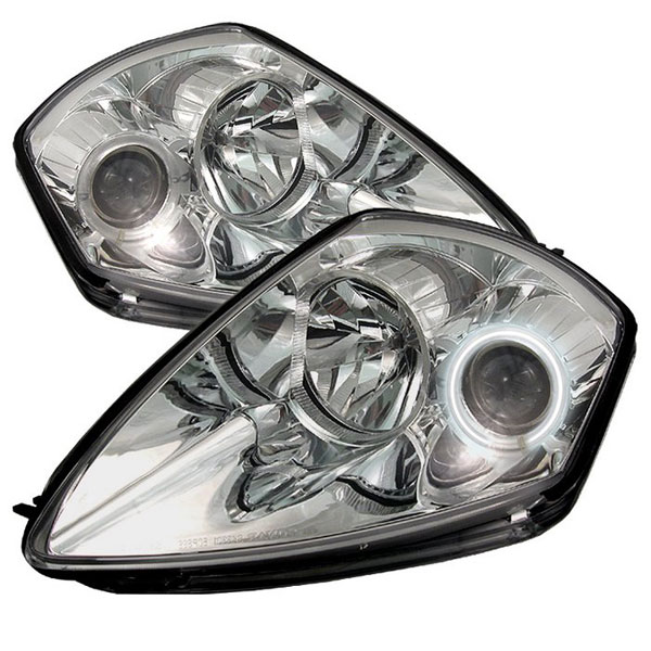 Spyder PRO-YD-ME00-CCFL-C:  Mitsubishi Eclipse 00-05 CCFL Projector Headlights - Chrome