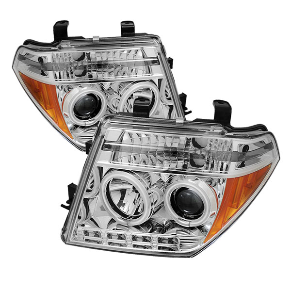 Spyder PRO-YD-NF05-CCFL-C:  Nissan Frontier 05-08 CCFL LED ( Replaceable LEDs ) Projector Headlights - Chrome