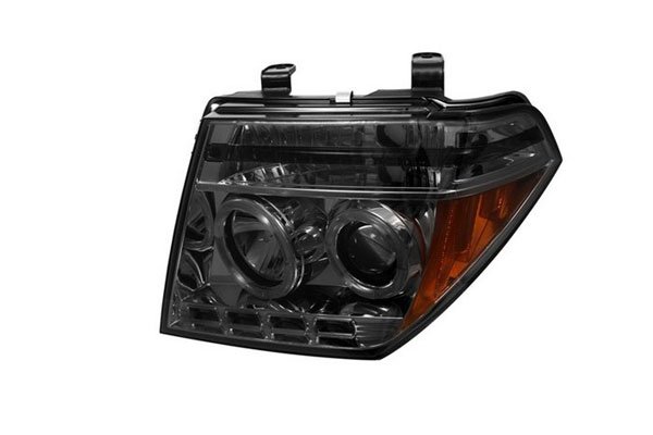 Spyder PRO-YD-NF05-HL-SM:  Nissan Pathfinder 05-07 Halo LED ( Replaceable LEDs ) Projector Headlights - Smoke