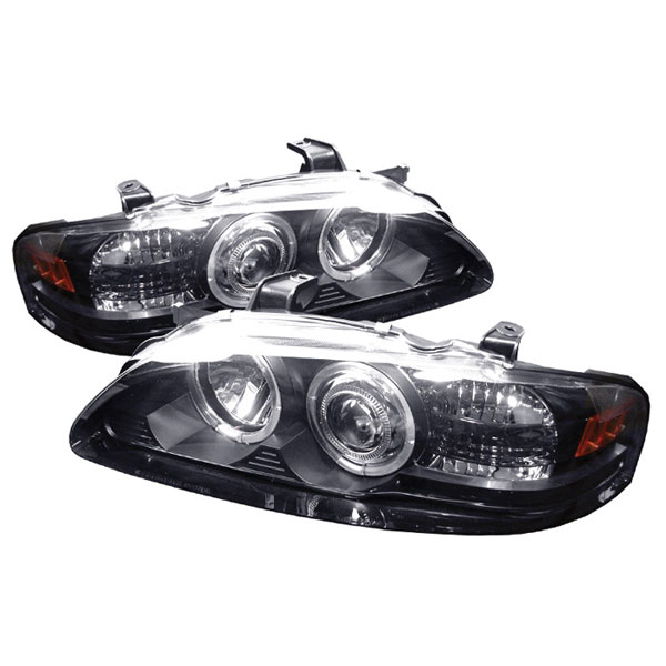 Spyder PRO-YD-NS00-HL-BK:  Nissan Sentra 00-03 1PC Halo LED Projector Headlights - Black