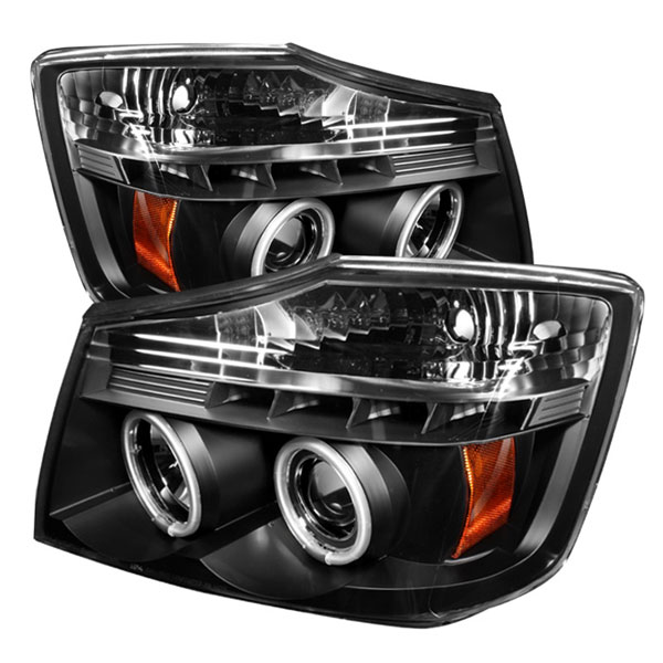 Spyder PRO-YD-NTI04-CCFL-BK:  04-07 Nissan Armada CCFL LED ( Replaceable LEDs ) Projector Headlights - Black
