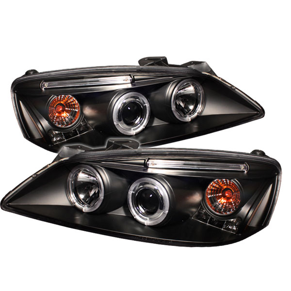 Spyder (5030221)  Pontiac G6 2/4DR 05-08 CCFL LED ( Replaceable LEDs ) Projector Headlights - Black  - (PRO-YD-PG605-CCFL-BK)