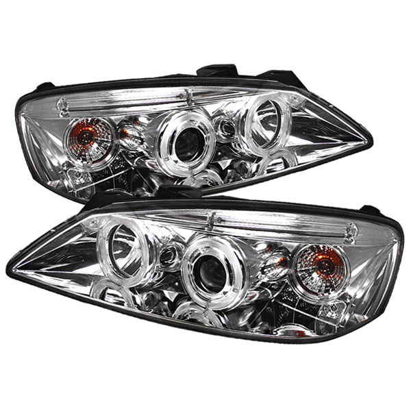 Spyder PRO-YD-PG605-CCFL-C:  Pontiac G6 2/4DR 05-08 CCFL LED ( Replaceable LEDs ) Projector Headlights - Chrome