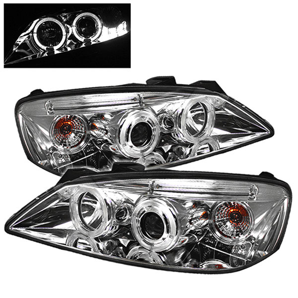 Spyder 5011602 Pontiac G6 2 4dr Halo Led Replaceable Leds Projector Headlights Chrome