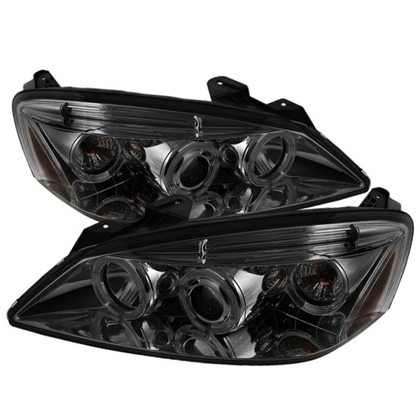 Spyder PRO-YD-PG605-HL-SM:  Pontiac G6 2/4DR 05-08 Halo LED ( Replaceable LEDs ) Projector Headlights - Smoke