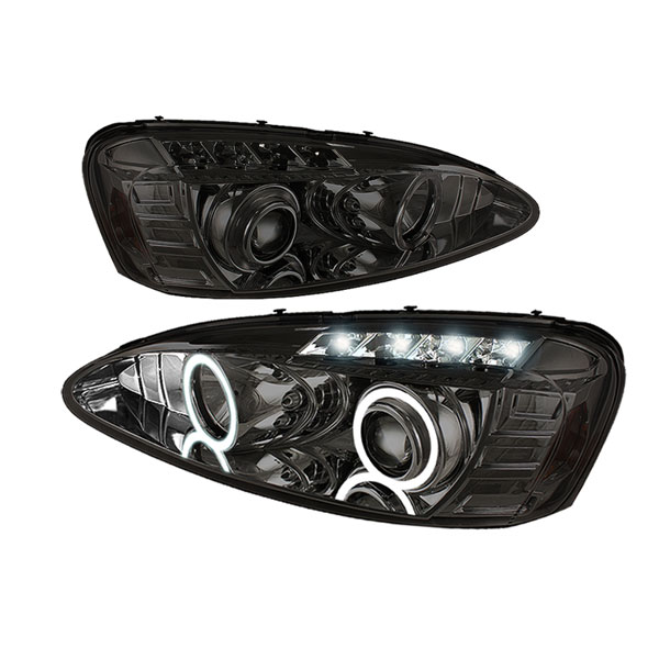 Spyder 5011688:  Pontiac Grand Prix 04-08 Halo LED ( Replaceable LEDs ) Projector Headlights - Smoke  - (PRO-YD-PGP04-HL-SMC)