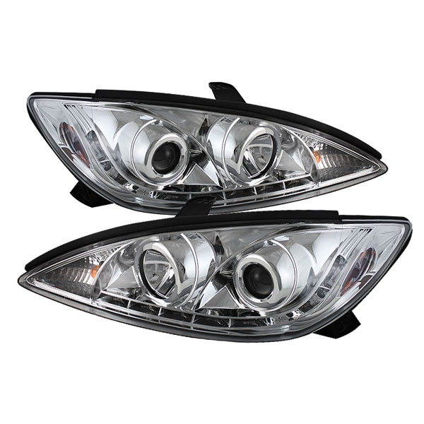 Spyder PRO-YD-TCAM02-DRL-C:  Toyota Camry 02-06 DRL LED Projector Headlights - Chrome