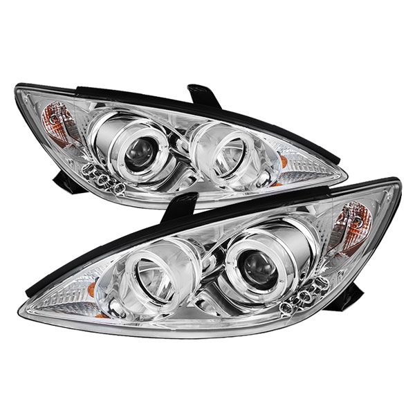 Spyder PRO-YD-TCAM02-HL-C:  Toyota Camry 02-06 Halo Projector Headlights - Chrome