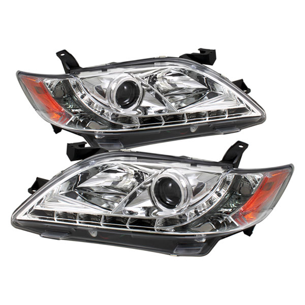 Spyder PRO-YD-TCAM07-DRL-C:  Toyota Camry 07-09 DRL LED Projector Headlights - Chrome