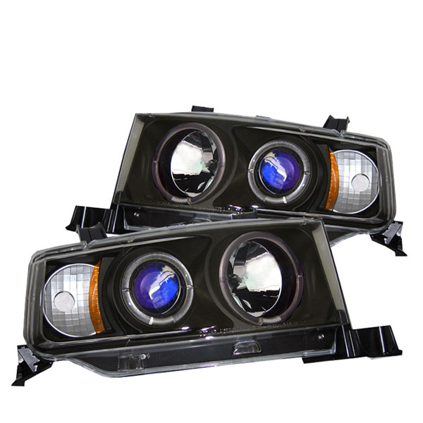 Spyder 5011893 |  Scion XB Halo Projector Headlights - Black - (PRO-YD-TSXB03-HL-BK); 2003-2007