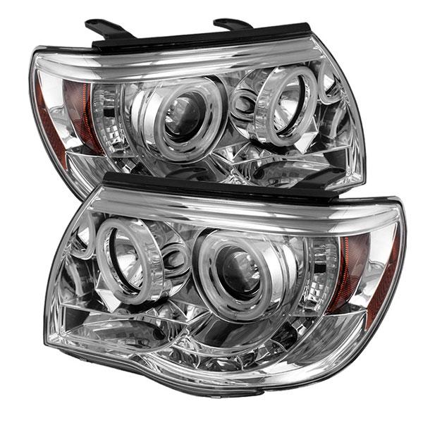 Spyder 5030290:  Toyota Tacoma 05-10 CCFL LED ( Replaceable LEDs ) Projector Headlights - Chrome  - (PRO-YD-TT05-CCFL-C)