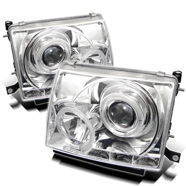 Spyder PRO-YD-TT97-HL-C:  Toyota Tacoma 97-00 Halo LED ( Replaceable LEDs ) Projector Headlights - Chrome