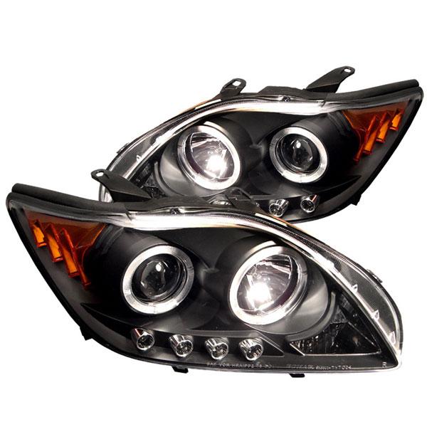 Spyder 5011961 |  Scion TC 05-07 Halo LED ( Replaceable LEDs ) Projector Headlights - Black - (PRO-YD-TTC04-HL-AM-BK)