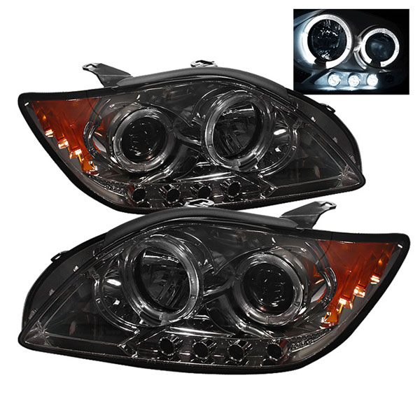 Spyder (5011985)  Scion TC 05-07 Halo LED ( Replaceable LEDs ) Projector Headlights - Smoke  - (PRO-YD-TTC04-HL-AM-SMC)