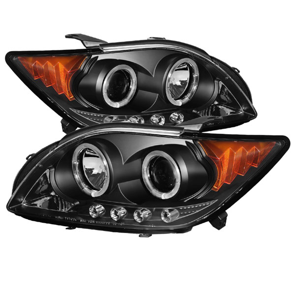Spyder (5073303)  Scion TC 08-10 Projector Headlights - LED Halo -Replaceable LEDs - Black - High H1 (Included) - Low 9005 (Included) - (PRO-YD-TTC08-HL-BK)