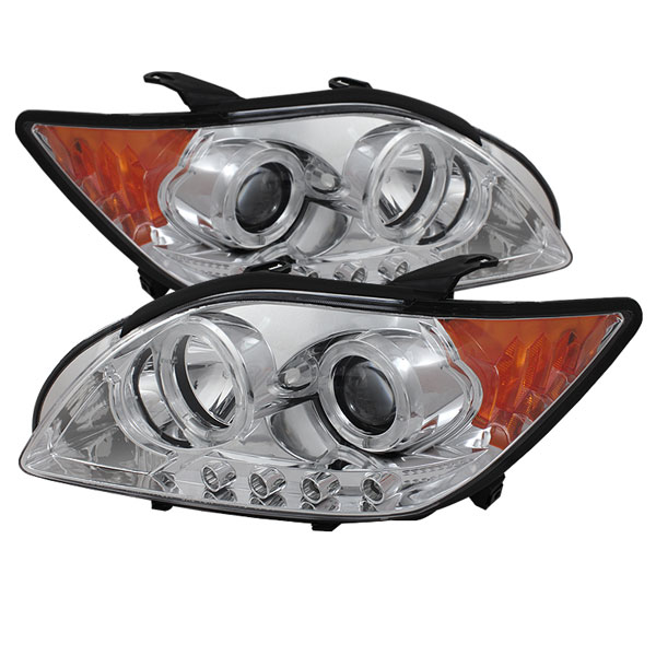 Spyder PRO-YD-TTC08-HL-C:  Scion TC 08-10 Projector Headlights - LED Halo -Replaceable LEDs - Chrome - High H1 (Included) - Low 9005 (Included)