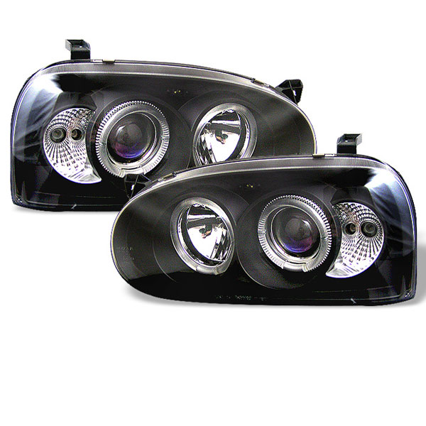 Spyder 5012135 |  Volkswagen Golf III 93-98 Halo Projector Headlights - Black  - (PRO-YD-VG92-BK)