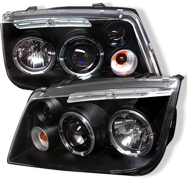 Spyder 5012258 |  Volkswagen Jetta Halo LED Projector Headlights - Black - (PRO-YD-VJ99-HL-BK); 1999-2005