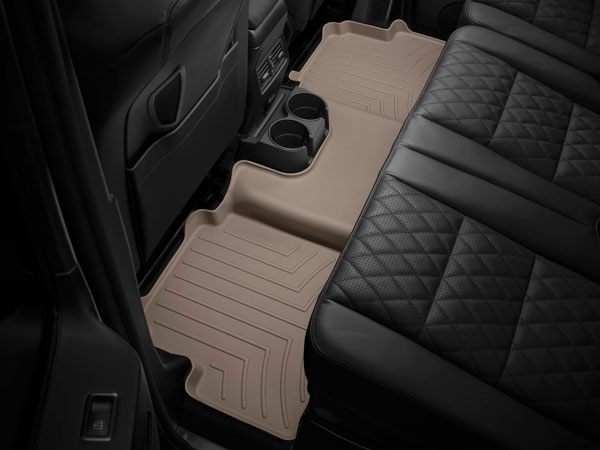 WeatherTech 452302 |  Rear FloorLiner Audi Q5 - Tan (2-piece part); 2009-2014