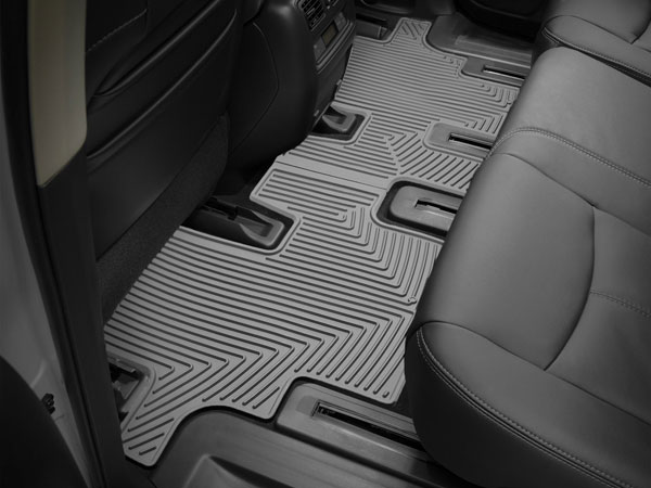 WeatherTech W60GR |  Rear Rubber Mats Acura MDX - Grey (3rd Row); 2007-2013