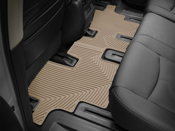 WeatherTech W20TN |  Rear Rubber Mats Audi Q7 - Tan; 2007-2015