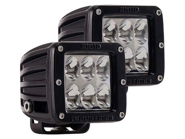 Rigid Industries (50231)  D2 - Driving LED Lights (Pair) Specter Optics White LED