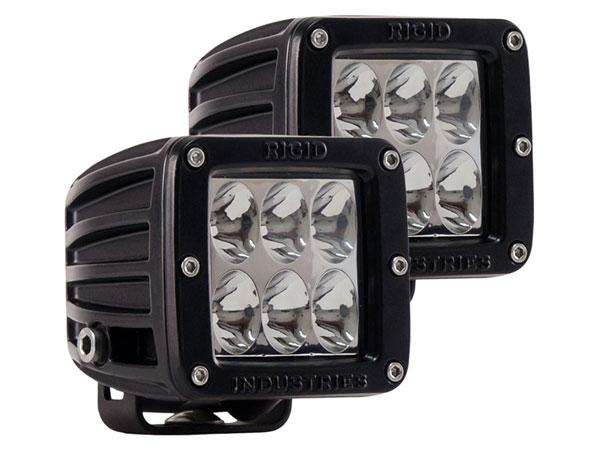 Rigid Industries 50231 |  D2 - Driving LED Lights (Pair) Specter Optics White LED; 1950-2014