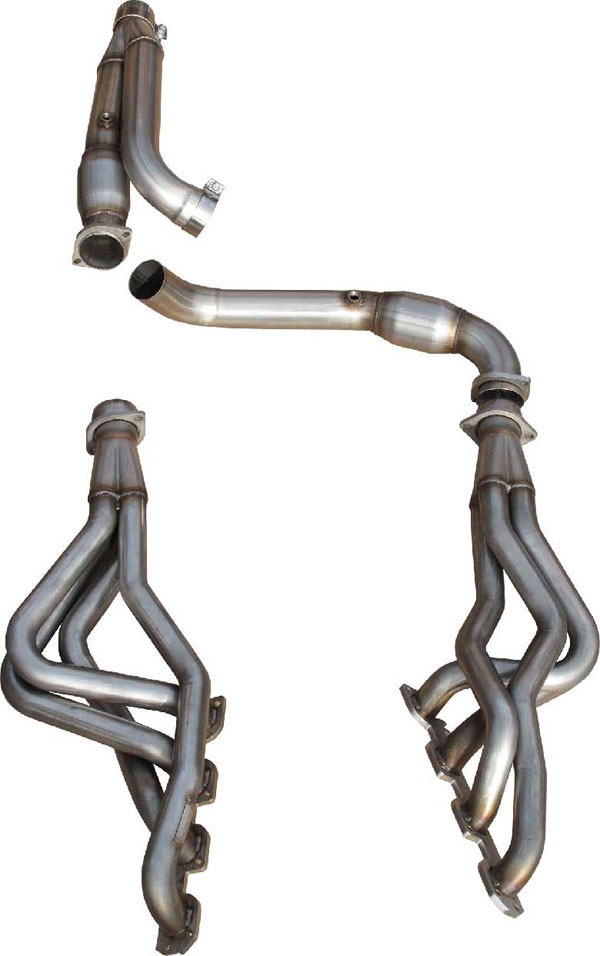 American Racing Headers RM156-09134300LSWC |  Dodge Ram 1500 6-speed Long System With Cats: 1-3/4in x 3in Headers, 3in Y-Pipe With Cats; 2009-2013