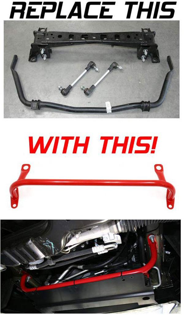 BMR Suspension RS002 | BMR Lightweight Tubular Radiator Support/Sway Bar Delete - For Drag Racing Mustang V8; 2005-2010