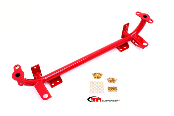 BMR Suspension RS003R | BMR Lightweight Tubular Radiator for Mustang Red; 2005-2010