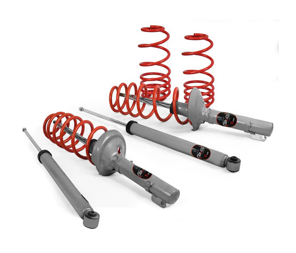 B&G Suspension 06.3.094 | B&G S2K Spring and Shock Lowering Kit for AUDI A4 2.8 FWD 1.4Fr 1.4Rr; 1996-2001