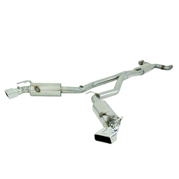MBRP Exhaust S7026409 | MBRP Camaro, V8 6.2L Automatic (L99) w/Ground Effects Pkg 3in Dual Cat Back, Rectangular Tips T409; 2010-2013