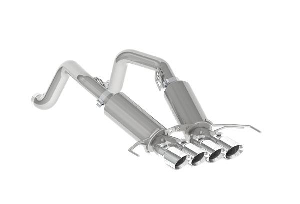 "MBRP Exhaust S7030304 | MBRP Corvette C7 3"" Dual Muffler Axle Back with Quad 4"" Dual Wall Tips T304; 2014-2016"
