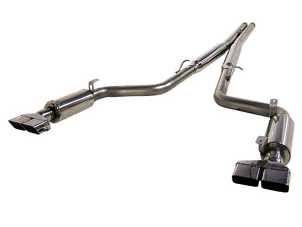 MBRP S7104304:  Dodge Challenger R / T 5.7L T-304 Stainless Steel Cat Back COOL DUALS