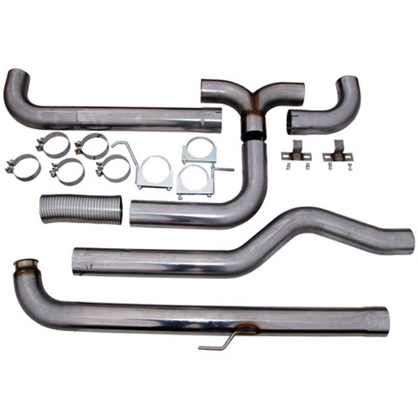 MBRP S8000409:  GM 01-07 Duramax Down Pipe Back Dual Stack (Incl. Front Pipe) 409 Stainless