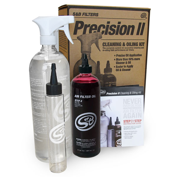 S&B Filters 88-0008 | S&B Filters Precision II: Cleaning & Oil Kit (Red Oil)