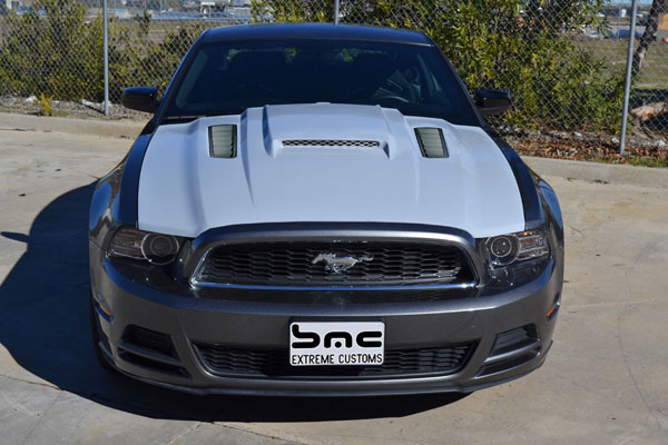 BMC Extreme Customs (SCMONGOOSEGT5) BMC 2010-13 Ford Mustang GT500 Supercharged Mongoose Hood