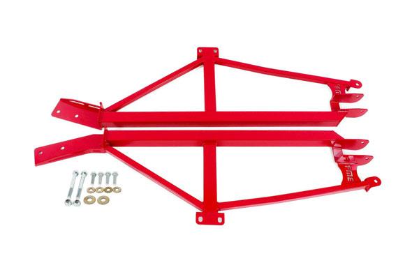 BMR Suspension SFC020R | BMR Camaro Subframe Connectors 4-Point Weld-in Red; 1993-2002