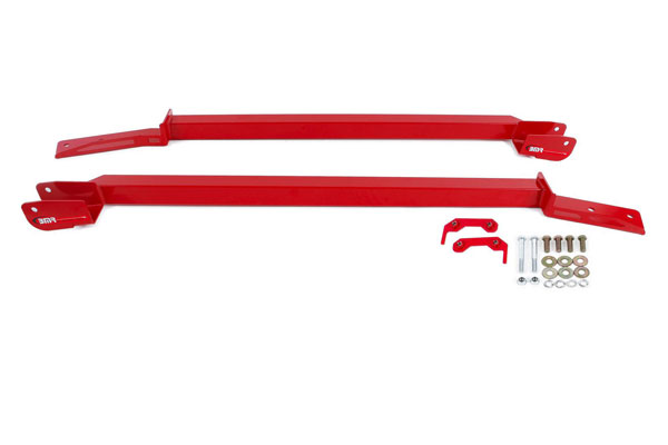 BMR Suspension SFC023R | BMR Firebird Bolt-on Boxed Subframe Connectors, Non-convertible Only Red; 1993-2002