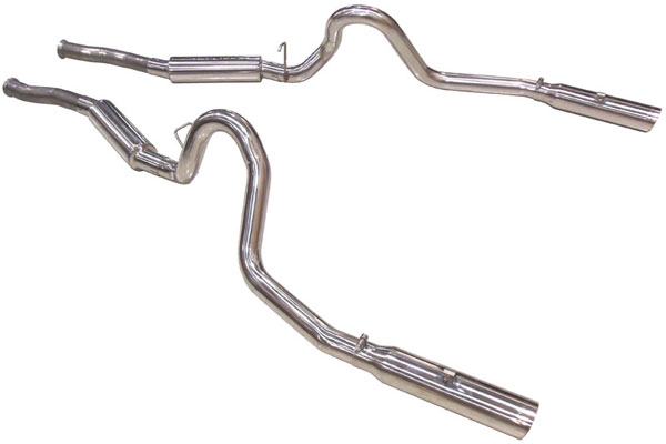 Pypes Exhaust SFM29V | Pypes Mustang Pype Bomb Cat Back System; 1994-2004