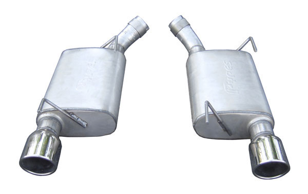 Pypes Exhaust SFM60V: Pypes 409 Stainless Steel Violator Axle-Back w/ Polished 304 Tips for 2005-10 Mustang GT V8