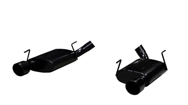Pypes Exhaust SFM60VB: Pypes Violator Axle-Back for 2005-10 Mustang GT V8 - Phantom Black Tips