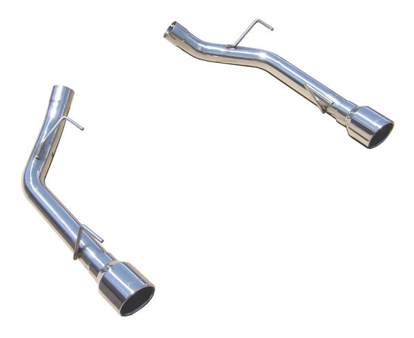 Pypes Exhaust SFM62SS: Pypes Stainless Steel Muffler Delete Axle-Back w/ Polished 304 Tips for 2005-10 Mustang GT V8