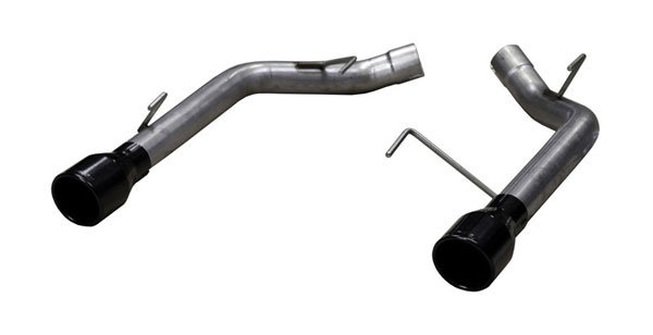 Pypes Performance Exhaust SFM62SSB: Pypes Stainless Steel Muffler Delete Axle-Back for 2005-10 Mustang GT V8 - Phantom Black Tips