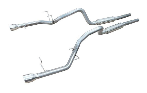 Pypes Exhaust SFM79: Pypes 2011-14 Mustang V6 Mid-Muffler Cat-Back Exhaust System