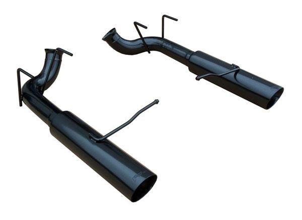Pypes Exhaust SFM79MSB | Pypes Mustang V6 Mustang Pype-Bomb Axle Back Exhaust System - Phantom Black; 2011-2014