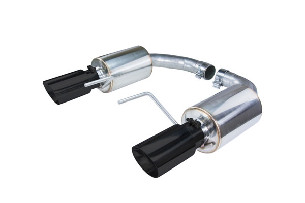 Pypes Exhaust SFM82MSB | Pypes Mustang SP Touring Axle-Back with Black Tips 2015-17 GT